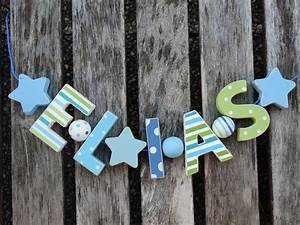Buchstaben Deko Kinderzimmer : elias namenskette shabby chic holz buchstaben holzbuchstaben taufe name deko kinderzimmer ~ Orissabook.com Haus und Dekorationen