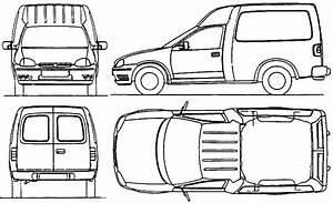 1999 opel combo van blueprints free outlines With opel combo van