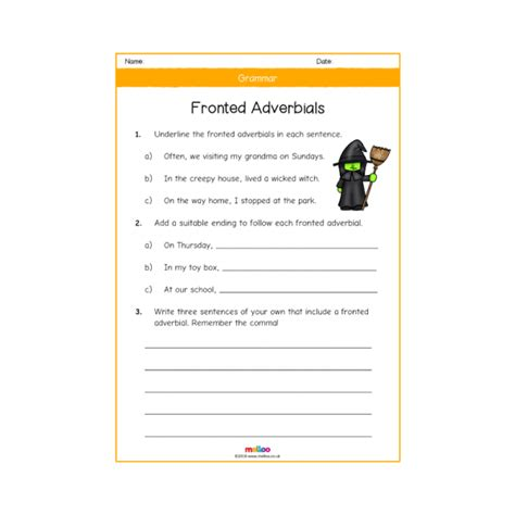 grammar year 4 worksheets ks2 melloo