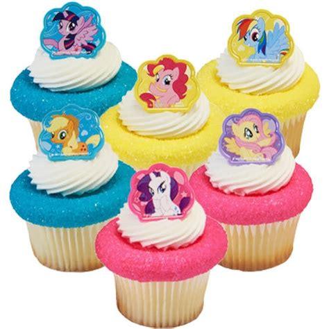 pony cupcake  favor rings