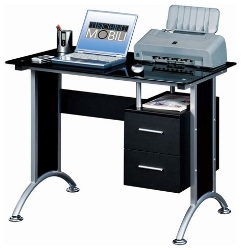 tempered glass computer desk narrow computer desk features black tempered glass panel