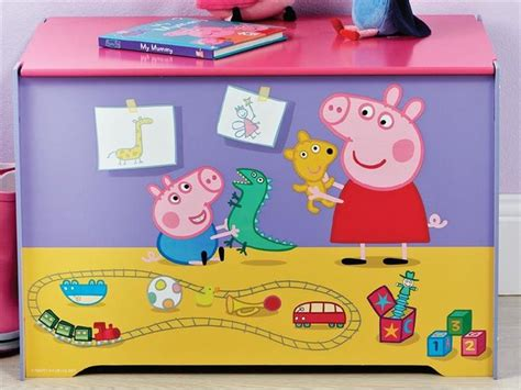 Peppa Pig Toy Box  Big Kid Bedrooms  Pinterest Toys