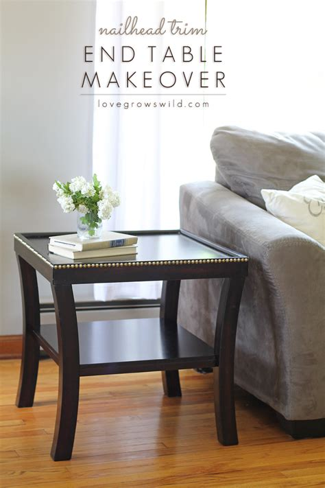 Furniture Trim by Nailhead Trim End Table Makeover Grows