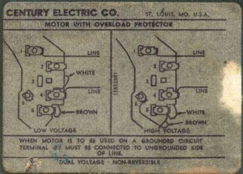 century ac motor wiring wiring diagram data