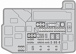 Toyota Prius  Xw30  2010   U2013 Fuse Box Diagram