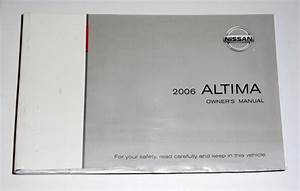 2006 Nissan Altima Owners Manual Book