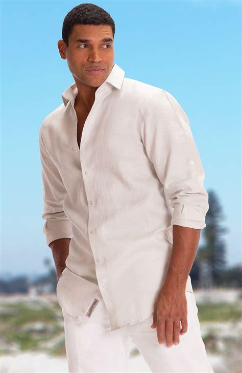 Bradford Custom Beach Wedding Shirts for Men in Light Sand