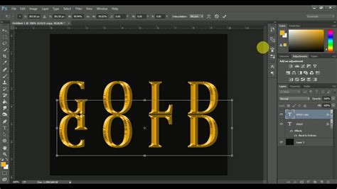 gold color photoshop how to make gold color text in photoshop