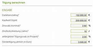 Tilgung Berechnen Formel : baufinanzierung tilgung online berechnen baufinanzierungsrechner ~ Themetempest.com Abrechnung