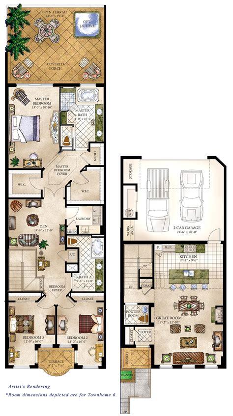bedroom townhouse plans townhouse floor plan lcxzzcom 1000 images about townhouse