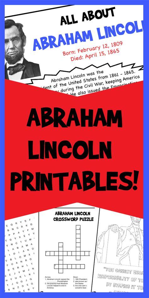 abraham lincoln printables woo jr kids activities
