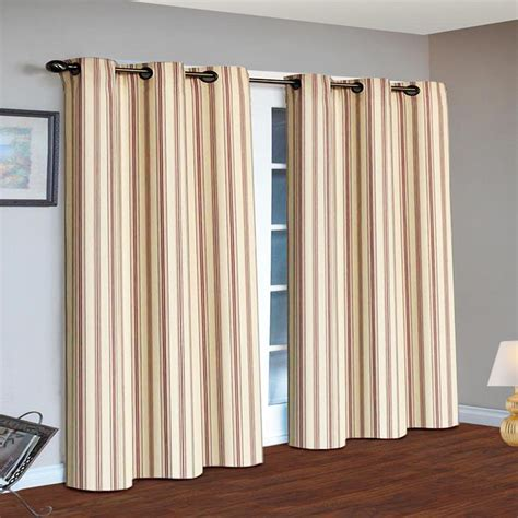 Grommet Top Drapes - skylinewears grommet top stripe curtains thermal insulated
