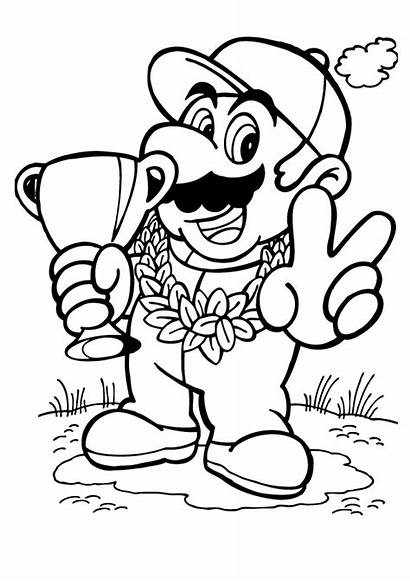 Mario Coloring Pages Super Wins