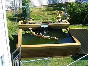 Build a raised wooden pond ~ You Here