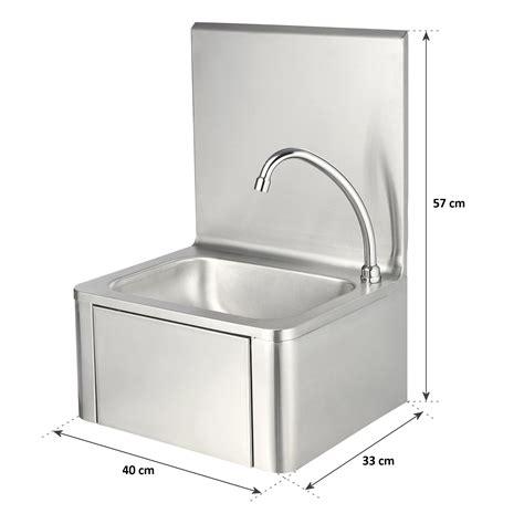 handwaschbecken mit unterschrank edelstahl zelsius edelstahl handwaschbecken mit kniebet 228 tigung und