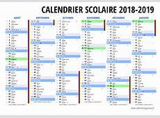Calendrier Scolaire 2019 takvim kalender HD