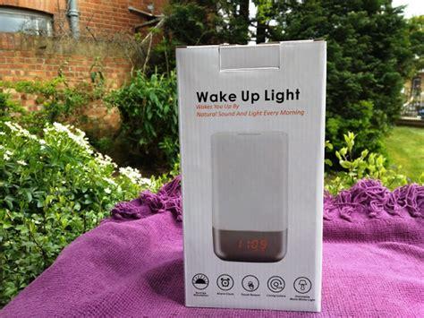 daylight wake up light tecboss wake sunrise alarm light clock with 5 nature