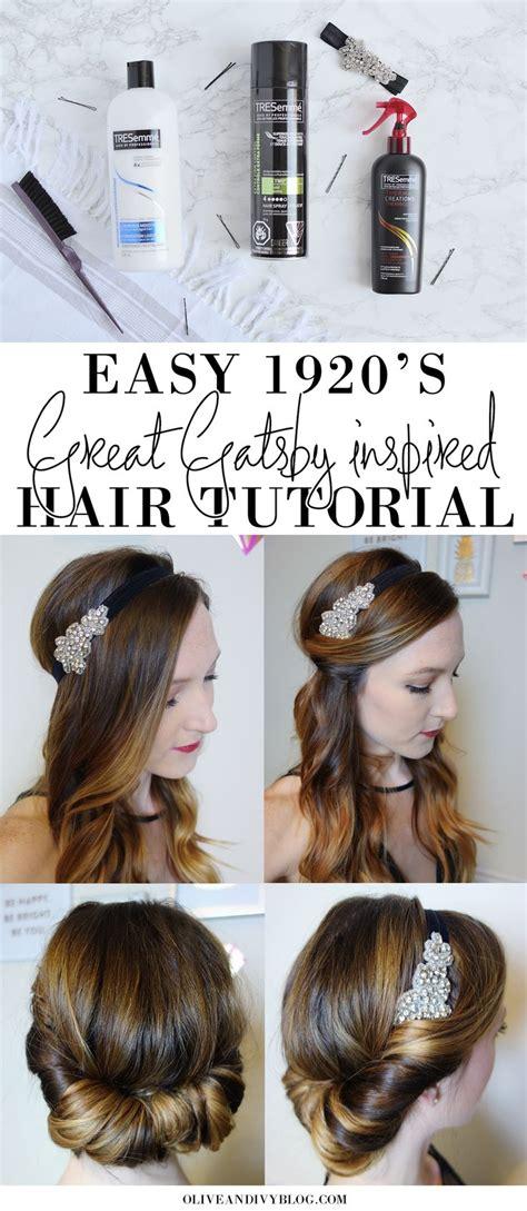 easy sgreat gatsby hair tutorial  gatsby