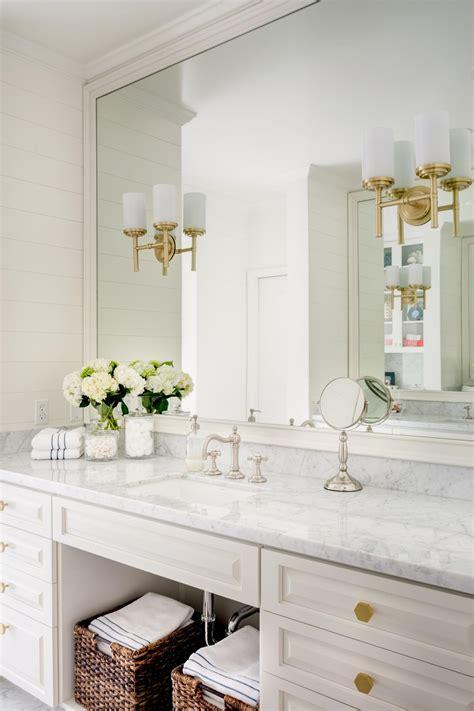 classic transitional bathroom vanity  marble