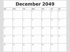 December 2049 Online Printable Calendar