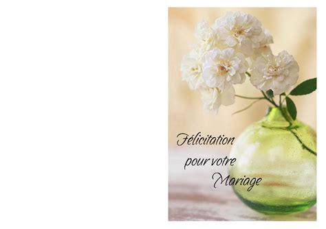 carte de voeux pour mariage à imprimer carte f 233 licitations de mariage 224 imprimer avec des