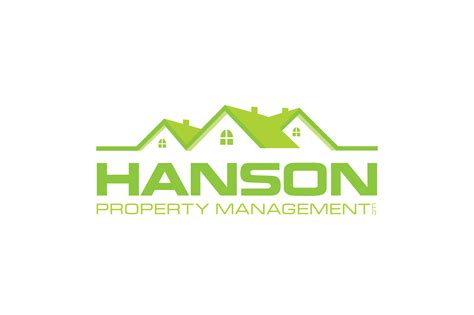 modern professional real estate logo design  hanson property management llc  digi