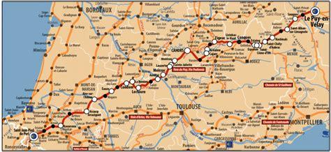 Chemin De St Jacques De Compostelle Carte Suisse by Acir Itineraires Acir Compostelle