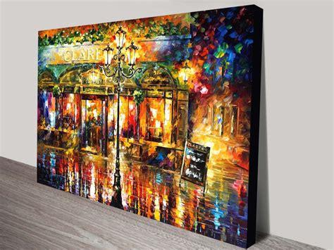 misty cafe leonid afremov canvas print sydney