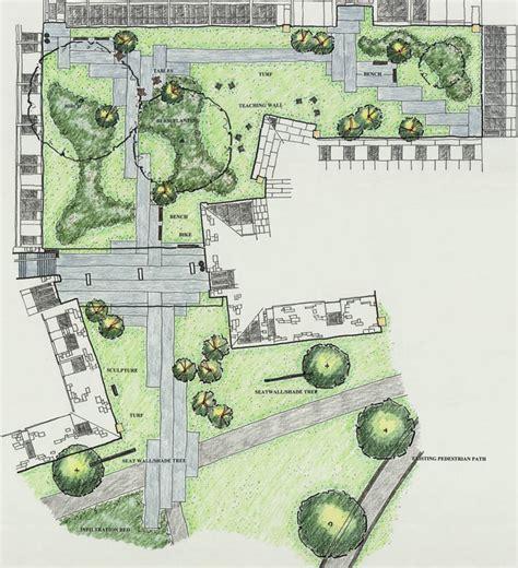landscape plan view breezeway entrance and harry wood garden lanscaping plan