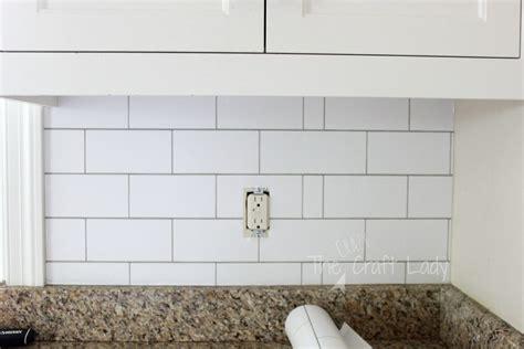 white subway tile temporary backsplash the tutorial
