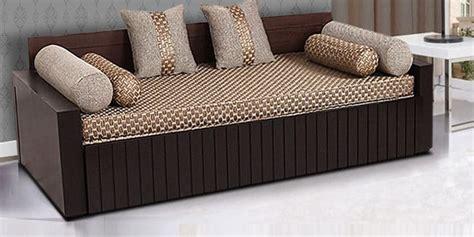 buy aster elegant sofa cum bed  walnut finish  arra