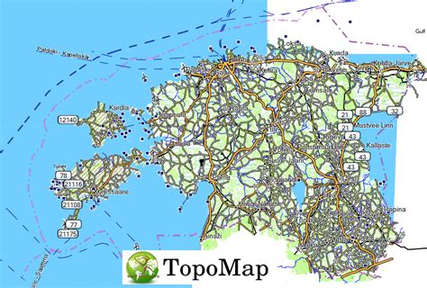 Carte Topographique Gratuite Garmin by Carte Topo Map Estonie
