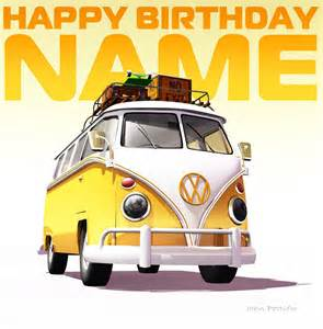 VW Happy Birthday Clip Art