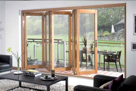 tri fold doors external folding sliding exterior doors