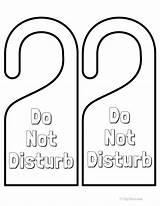 Door Disturb Hangers Signs Printables Printable Hanger Room Fun Doors Colored Ready Paint Fyibytina sketch template