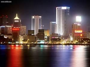 Buildings & City: Night View of Johor Bahru Malaysia ...