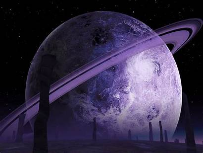 Space Purple Backgrounds Saturn Ring Shades Universe