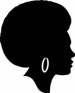 Black Female Afro Silhouette Clip Art at Clker.com ...