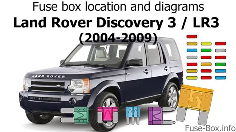 Land Rover Fuse Box Location by Fuse Box Location And Diagrams Land Rover Discovery 3