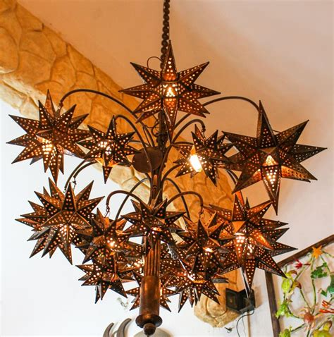 mexican chandeliers chandelier el callejon tin and glass
