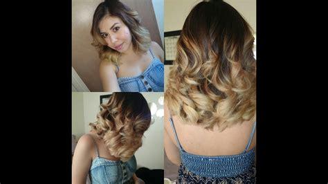 como pinte mi cabello ombre mechas californianas youtube