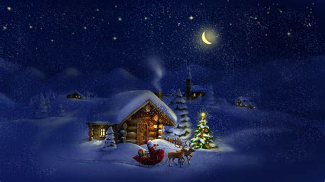 Santa Claus Dreamy Christmas Night 4k Ultra Hd Desktop