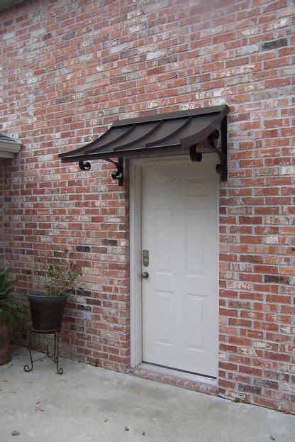 concave metal awning custom metal awnings copper awning metal awning  doors windows