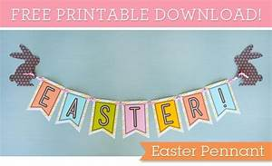 FREE Printable Easter Banner | Saving with Shellie™