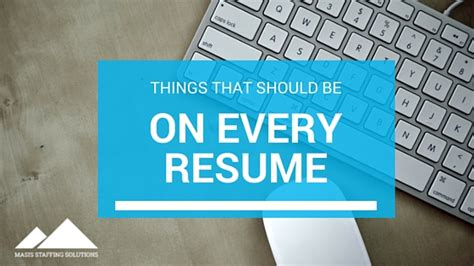Things That Should Be On A Resume by Resumes Of Chions Things That Should Be On Every Resume