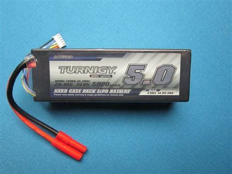 Turnigy 5000mah 4s Lipo Battery 14.8v Hardcase 4mm Hxt