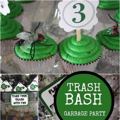 garbage truck boys birthday party spaceships  laser