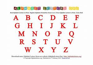 Alphabet letters printable red for Alphabet photo letters