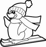 Penguin Pinguin Kleurplaat Kerst Themailbox Kleurplatenl sketch template