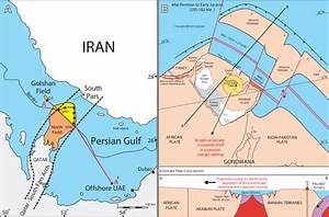A) Location of the South Pars and Golshan gas fields ...